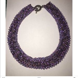 Lilac beaded necklace RBG style
